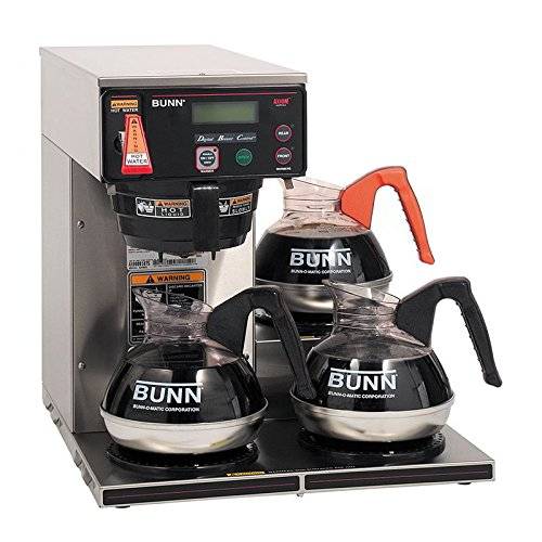 Bunn 38700.0009 Axiom DV-3 Lower Automatic Commercial Coffee Brewer with 3 Warmers (120V ()