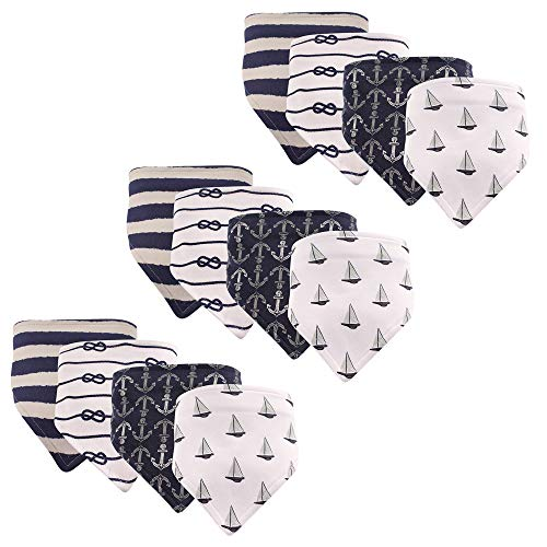 - Hudson Baby Baby Bandana Bib, Sailboat 12-Pack, One Size