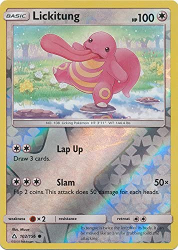 Pokemon Sun /& Moon Ultra Prism Rare Card Lickilicky 103//156