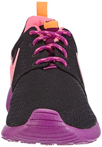 Nike Roshe Run 599729, Mädchen Sneakers Schwarz (Black/Pink Powder-Bld Berry-Total Orange)