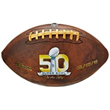 Wilson NFL Super Bowl 50 Official Throwback Composite Commemorative Football With Official Box