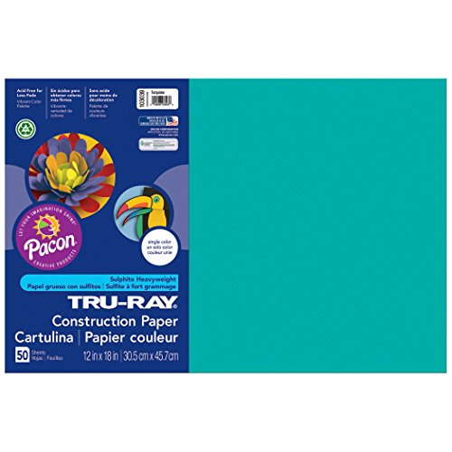 (Pacon Tru-Ray Construction Paper, Turquoise, 12