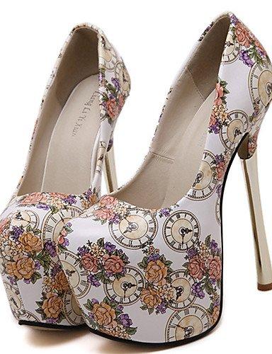 GGX/Damen Schuhe Kunstleder Sommer Heels/Plattform/offene Zehen/Ankle Strap Kleid Stiletto Ferse Schnalle black-us8 / eu39 / uk6 / cn39