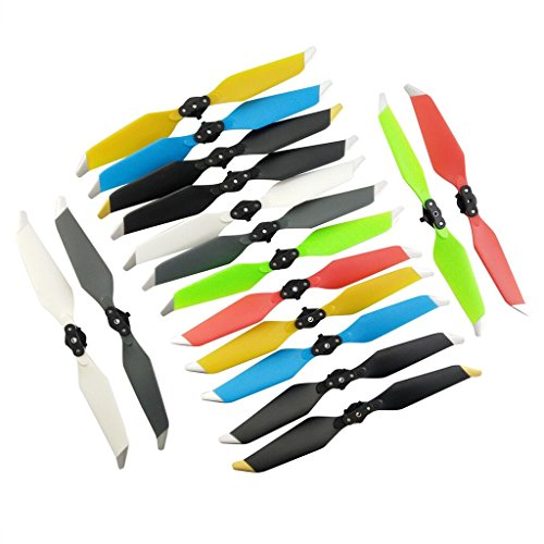 Sea Jump 8331 Propeller For Dji Mavic Rc Drone 16Pcs New Quick Release Noise Reduction Blade Folded Propeller Quadrocopter Drone Accessories 8 Color Mixed