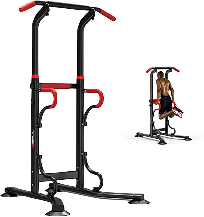 Power Tower Combination Trainer Dip Station Chin Up Pull Push Bar Workout USA