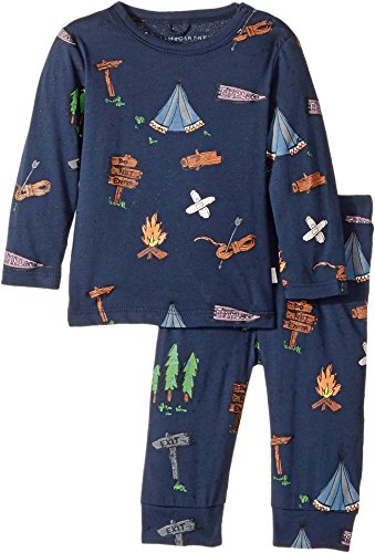 Stella McCartney Kids Baby Boy's Georgie+Macy Campsite Printed Top+Leggings Set (Infant) Navy - Kids Macy