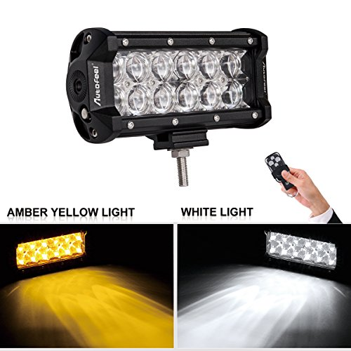 white and amber driving light - 2