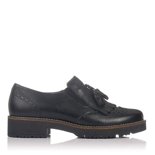 PITILLOS 5391 Zapato BORLAS Piel Mujer Negro 41: Amazon.es
