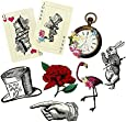 Talking Tables Alice In Wonderland Party Supplies | Party Prop Set | Great For Mad Hatter Tea Party, Birthday Party And Baby Shower | 8 Piece Set