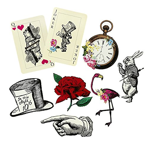 Talking Tables Alice In Wonderland Party Props Mad Hatter Tea Party, Pack of 8, Mixed Sizes -