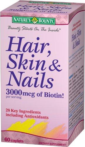 Природы Bounty волос, кожи и ногтей, 60 капсулы
