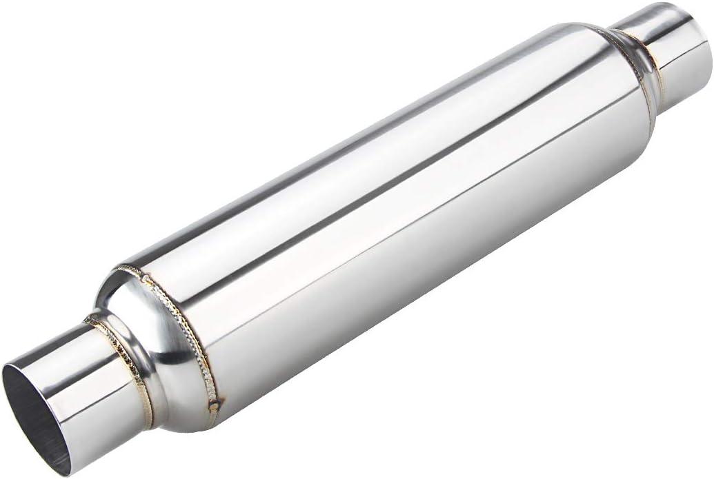 "Exhaust Silencer 4/"" x 2.5/"" x 20/"" Universal Resonator Muffler Back Box S//S 304"