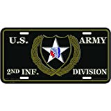 U.S. Army 2nd Infantry Division License Plate