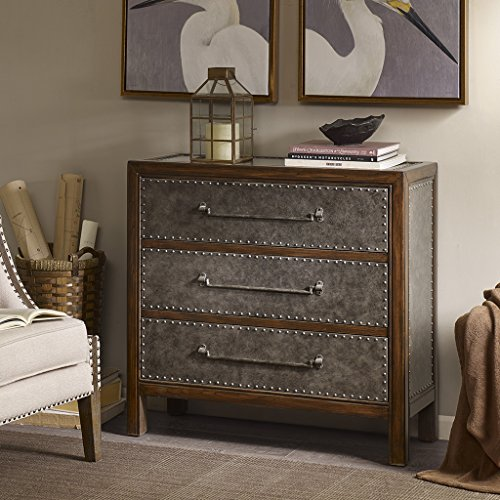 Madison Park Tracer 3 Drawer Chest Brown Multi/Walnut See - 3 Drawer Madison