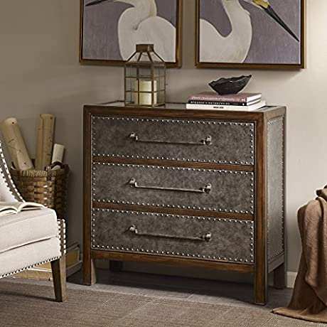 3 Drawer Chest Tracer Brown Multi Walnut