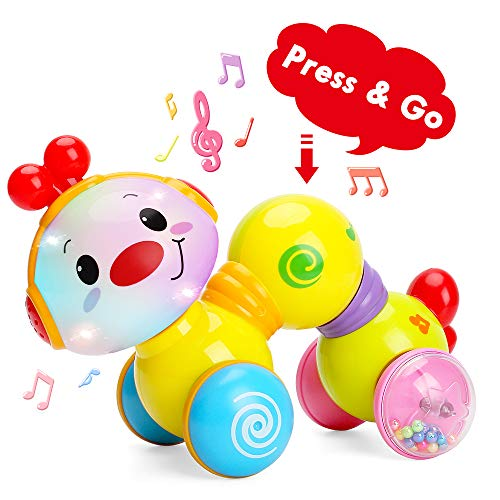TINOTEEN babyspeelgoed, peuter muzikaal kruipend rups speelgoed voor baby's peuters 6 9 12 18 maanden