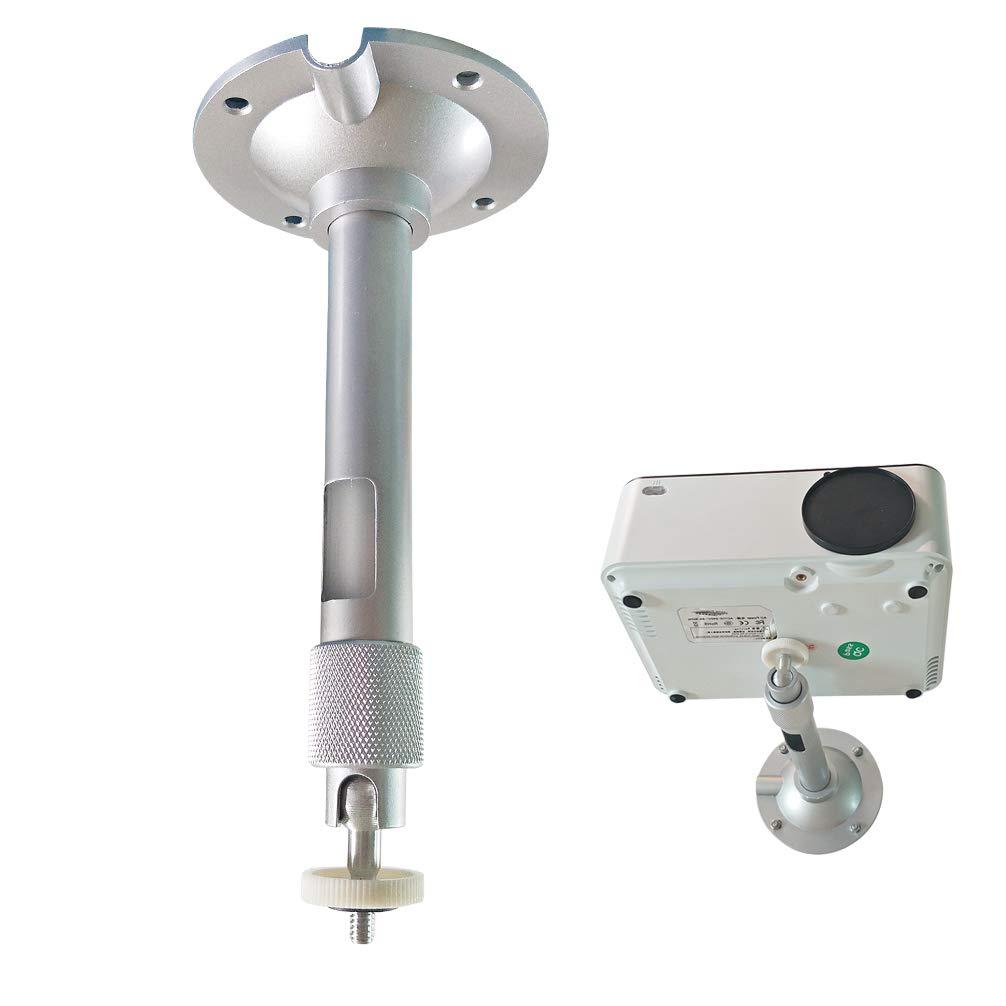 Sozo 7.2インチ/18cm ミニプロジェクターラック 壁 天井取り付けハンガー 5kg ロードマウントブラケット ミニプロジェクターカメラ用 360度回転ヘッド調整角度シルバー B07QM969F6