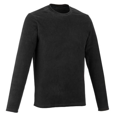 QUECHUA FORCLAZ 20 Men Black Men's  Shirt & T-shirts at amazon
