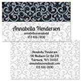 White-Grey-Black Double-Sided Business Cards - Set of 250 2'' x 3-1/2'' custom business card design; 80# Cover Stock, Opaque, Matte