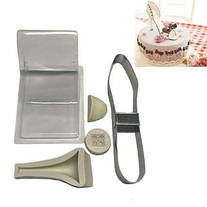 Uniqstore - Kit de Zapatos de tacón Alto para Fondant, Molde de Silicona para decoración
