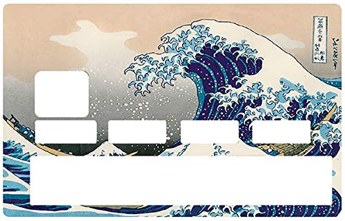 add32791e16 DECO-IDEES Credit Card Sticker, La Grande Vague de Kanagawa de Hokusai -  Personalize Your Credit Card with These Removable Stickers