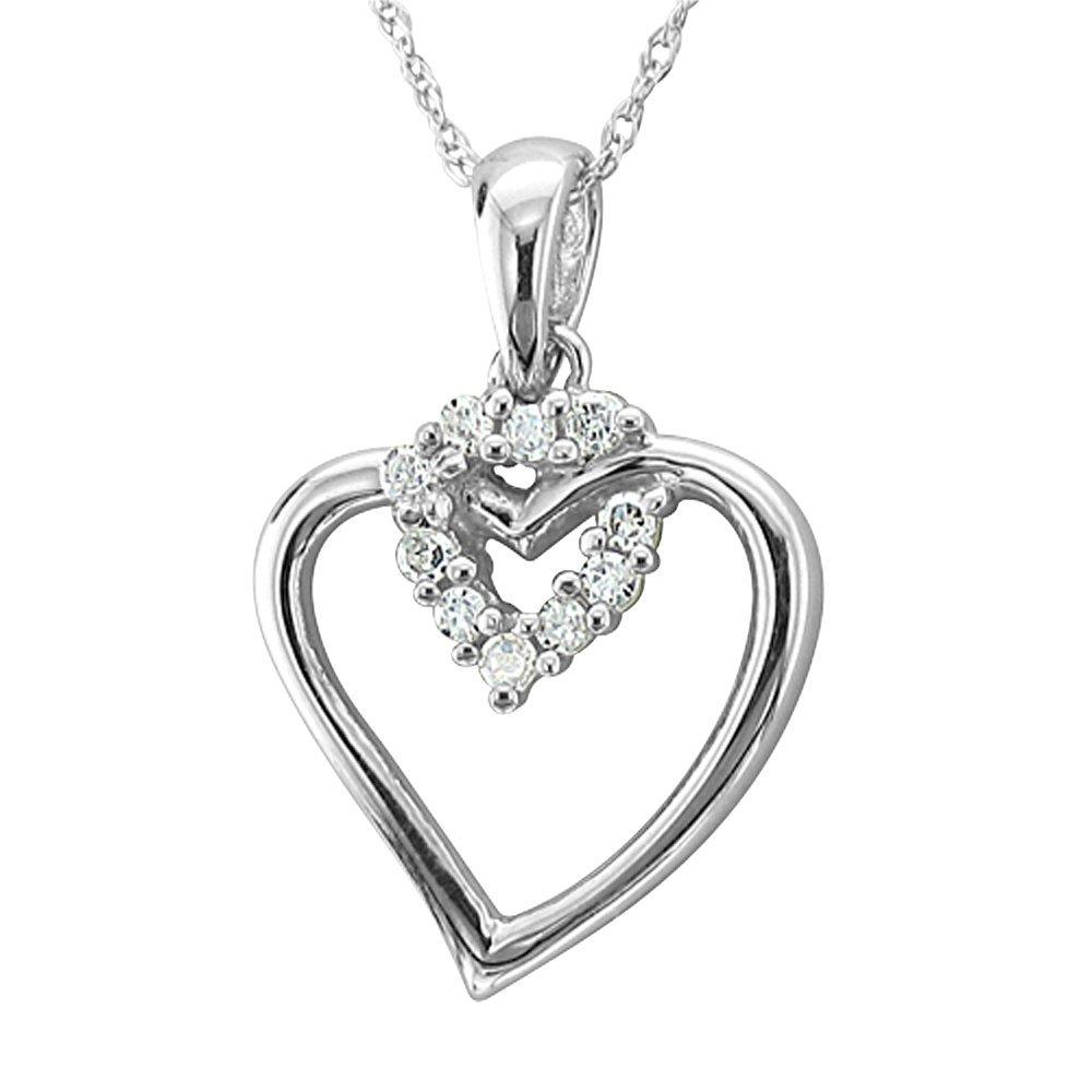 Amazon igi certified 10k rose gold heart diamond pendant amazon igi certified 10k rose gold heart diamond pendant necklace 008 carat jewelry mozeypictures Gallery