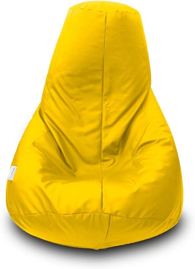 Puff Pera Polipiel XL 90x135cm Amarillo