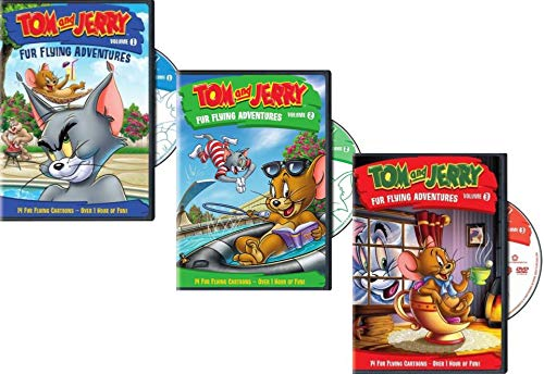 Tom and Jerry DVD pack - Fur Flying Adventures Collection Volumes. 1, 2 & 3 (Tom And Jerry Dvd Complete Series)
