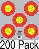 Archery 5 SPOT & 3 SPOT Vegas Targets by Longbow 8, 20, 50 & 200 Packs (5 Spot (200 Pack))