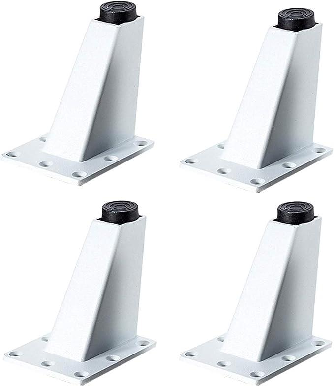 Patas para muebles Patas Regulables para Muebles de Cocina o baño,4 piezas, Pies de gabinete de altura, patas de mesa, patas de muebles(blanco): Amazon.es: Bricolaje y herramientas