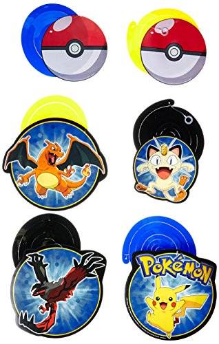 Amscan 12 Count Pokemon Foil Swirl Decorations, Multicolor -