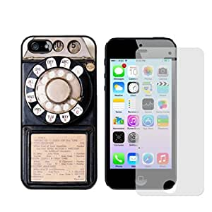 Mob Tec Apple iPhone 5s Vintage Payphone Case with Free Screen Protector
