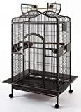 "New Large Wrought Iron Open/Close Play Top Bird Parrot Cage, Include Metal Seed Guard Solid Metal Feeder Nest Doors Overall Dimensions: 35.25""Wx29.5""x62""H(With Seed Skirt)"