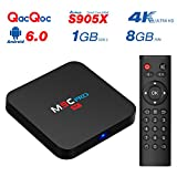 [Pure Version] QacQoc M9C Pro Android 6.0 Box 4K New Amlogic S905X Chipset-Quad Core [1G/8G] with HDMI 2.0 Video Decoder 4k.2k Output -Support Ultra Fast Running Speed -2.4G WIFI Smart Android BOX