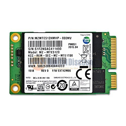 Samsung 512GB PM851 50mm SATA III (6G) mSATA SSD Solid State Drive - MZMTE512HMHP by Samsung