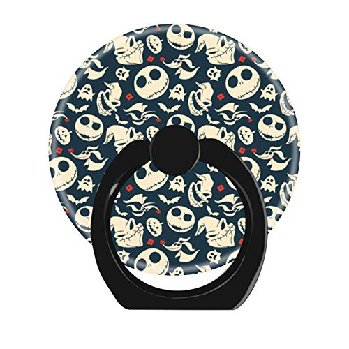 Cell Phone Ring Holder Cellphone Finger Stand 360 Degree Rotation Work All Smartphone-Nightmare Before Christmas oh What Joy Pattern (Giraffe Phone Jack)