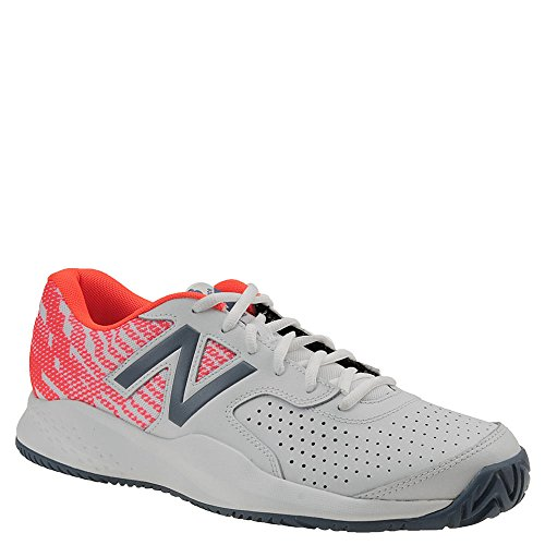 New Balance Women's 696v3 Hard Court Tennis Shoe, White, 8.5 D US