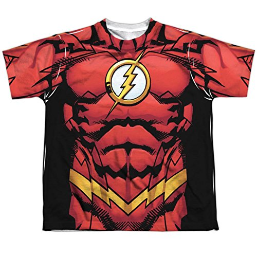 Flash New Kid Costume 52 (Youth: JLA- Flash 52 Kids T-Shirt Size)