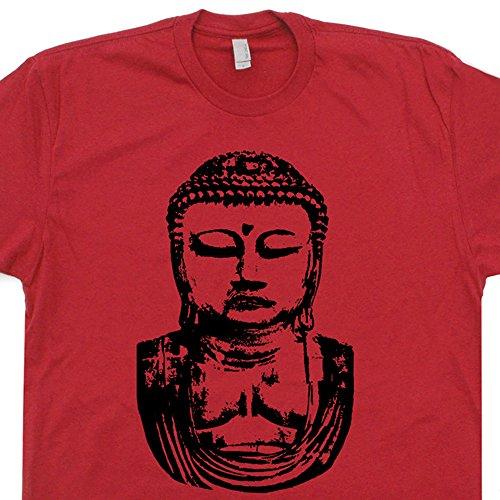 [XXL - Buddha T Shirt Buddhist Peace Yoga Karma Love Happy Fat Laughing Recycle Coexist Mens Womens Kids Tee Shirtmandude] (Buddha Fitted T-shirt)