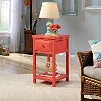 Sauder Cottage Road Side Table in Desert Coral