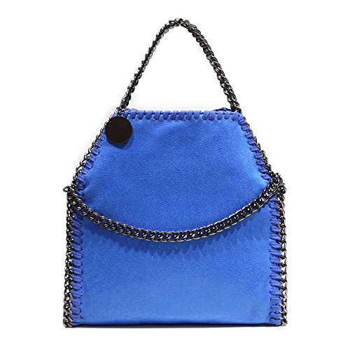 Shoulder Chain Tote for Clutch Strap Bag with blue Bag Hobo Foldover Large Nylon Casual Handbags Women Large Crossbody Women rwqrCETF