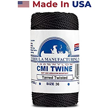 Tarred Size #48 Nylon Twine Twisted 1 lb 6-pack Black