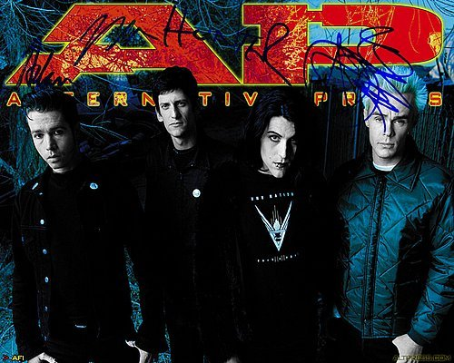 Afi Autographed Preprint Signed 11x14 Poster Photo 1