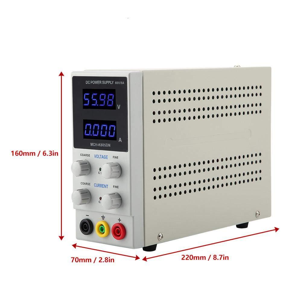 US Plug MCH-K605DN 4 LED High Precision Mini Adjustable DC Stabilized Power Supply 60V 5A DC Power Supply