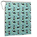 Border Collie Coffee Home Universal Bathroom Personality Durable Waterproof Mildew Polyester Fiber Shower Curtain Liner 60 X 72 Inch with 12 Hooks and Weighted Lead Wire 6