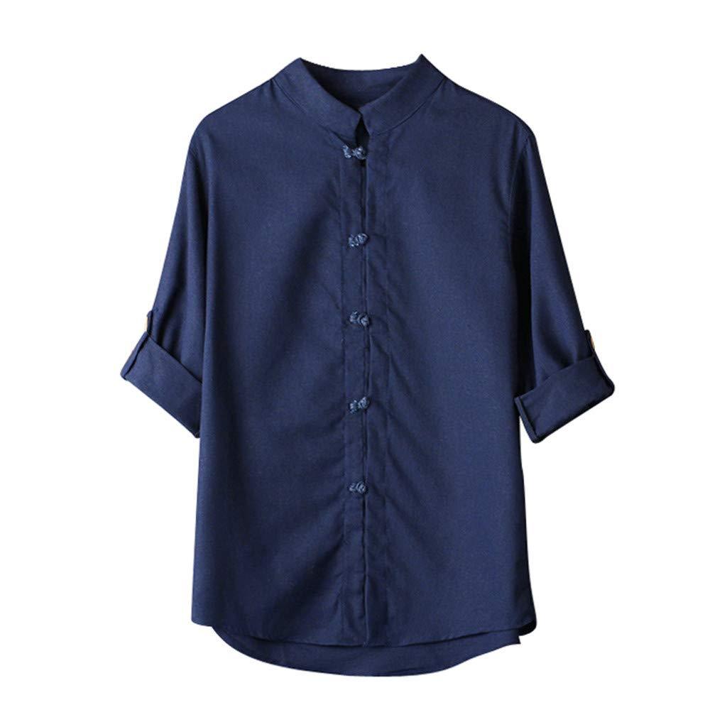 Traje Tang Camisa Hombres Clásico Estilo Chino Kung Fu Tops ...