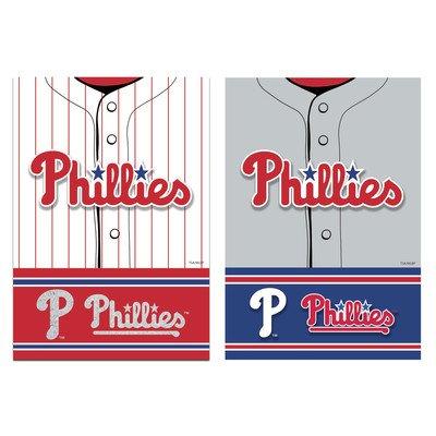 MLB DS Suede Foil Regular Jersey Banner Flag MLB Team: Philadelphia Phillies