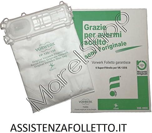 6/Sacs daspirateur vorwerk pour aspirateur Folletto VK 135/et vK 136