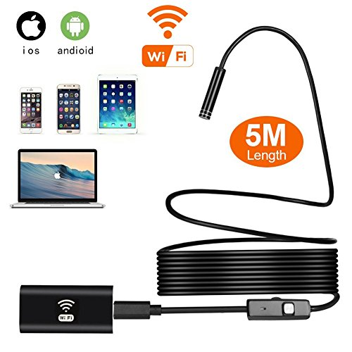 Best buy Wireless Endoscope, Wifi Waterproof Wireless Borescope with 8 mm Lens