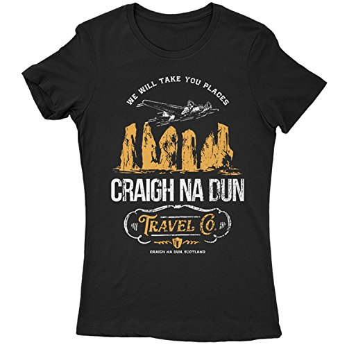 9035L Craigh Na Dun Womens T-Shirt Scotland Monument Time Travel Company Outlander Stones Outland Future Past Black